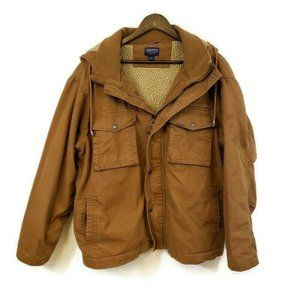 Smiths Workwear Mens Hooded Sherpa Lined Jacket